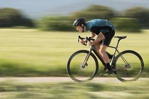 Sprinten dürfte bei 13 kg Radgewicht noch Spaß machen