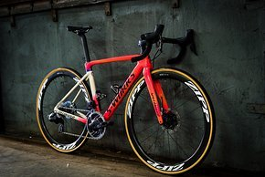 Das Specialized S-Works Roubaix von Chantal van den Broek-Blaak in der Grit & Grace Sonderedition.