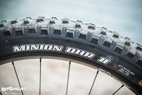 Bei den Reifen setzt man auf griffige Maxxis Minion DHR II