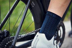 Auch die Socken sollen nur minimal auftragen und sind eher kurz