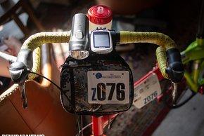Die Startnummer ließ er erstmal dran am Faltrad mit dem 80-Zähne-Kettenblatt
