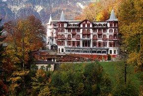 Das Grandhotel Giessbach imponiert