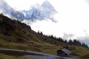 Im Schatten von Eiger, Mönch und Jungfrau auf die grosse Scheidegg
