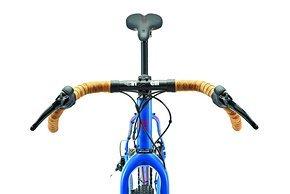 Mit breit ausgestelltem Lenker und geländetauglichen Reifen verwischen die Kategorie-Grenzen.