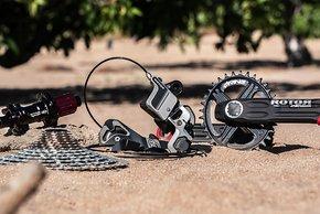 Auch mit MTB-Kurbeln und -Shiftern ist Rotor 1x13 kompatibel