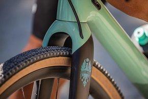 In Rahmen und Gabel ist Platz für Reifen bis 38 mm in 700c (38-622).