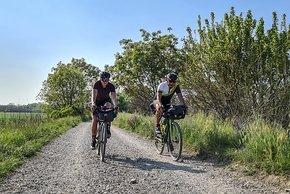 Das Radwegnetz in Italien ist sehr vielfältig. Von Kies über Asphalt ist alles zu finden.