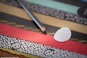Die Ostereier haben Muster aus Lenkerband – aber vieles geht, z.B.  Reifen, Helme, Trikots...