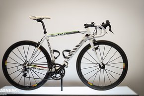 Das Canyon Ultimate CF SLX von Cadel Evans in Weltmeister-Design