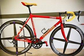 So ähnlich wie der Renner der Woche sahen auch die Räder aus, die Mario Cipollini fuhr