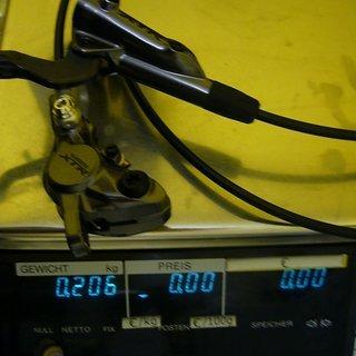 Gewicht Shimano Scheibenbremse XTR BR-M9000 HR, 1700mm