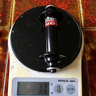 Gewicht Novatec Nabe A291-SB 100mm QR, 24h