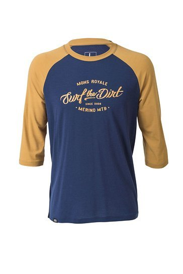 Mons Royale Redwood 3:4 Raglan Navy-Desert
