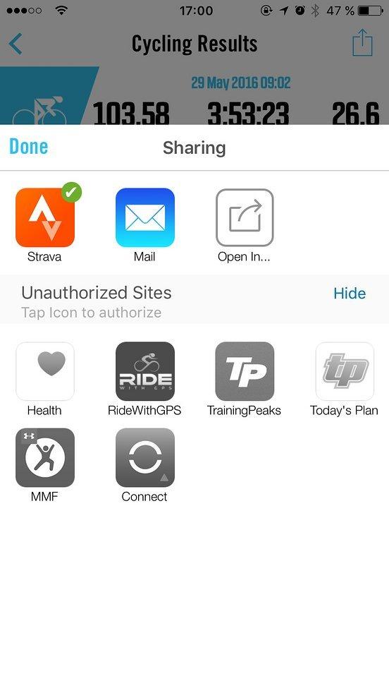 Die Aufzeichnungen lassen sich zu vielen Webdiensten hochladen, per Mail versenden oder in anderen Apps öffnen