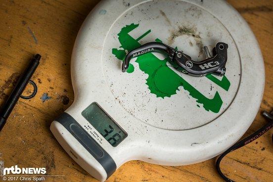 Der HC3-Hebel zum Nachrüsten ist 38 Gramm schwer.