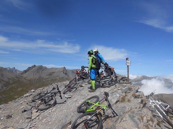 Geschafft, der Gipel des Monte Bellino auf 2927m, höher geht's nimmer.