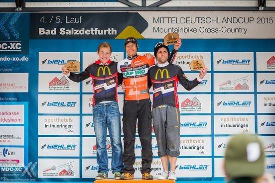 Das Podium Masters 1: 1. Sven Pieper - Focus Rapiro, 2. Patrick Scholze - Bad Bikers, 3. Maik Pustal - Bad Bikers