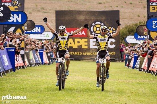 Karl Platt und Urs Huber vom Team Bulls 1 gewinnen das Cape Epic 2016