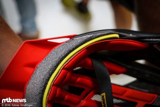 Das gelbe Band soll den Tragekomfort enorm erhöhen