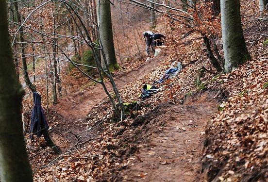 Die Trails nehmen langsam Form an