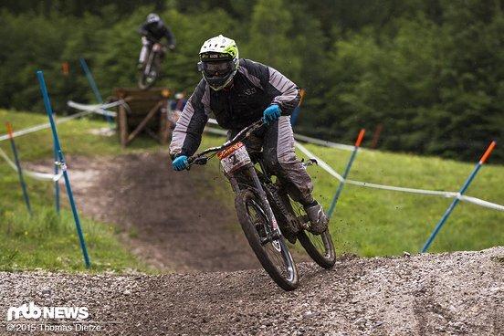 Johannes Fischbach beim Training in Kranjska Gora