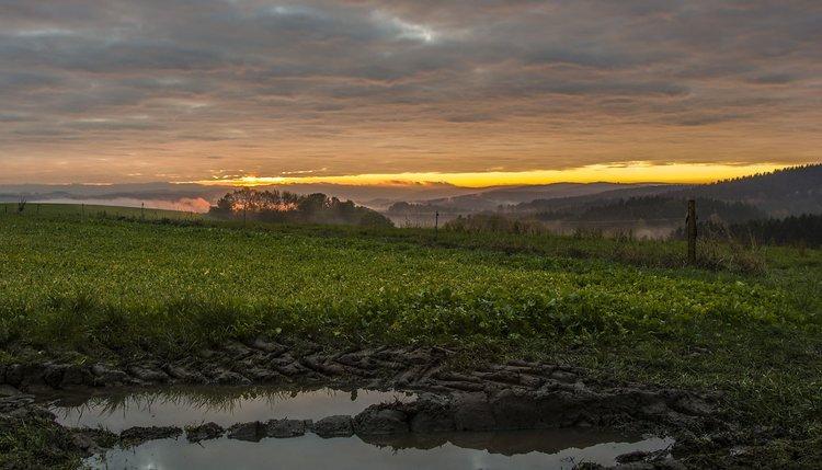 Sonnenaufgang in Lengefeld