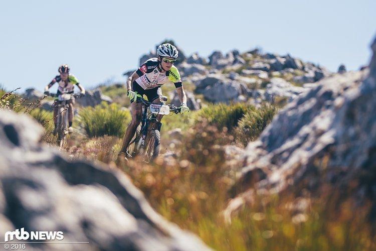 Esther Süss will nur noch auf der Langstrecke aktiv sein, wie hier beim Cape Epic. Allerdings wird sie nicht mehr auf Wheeler Bikes unterwegs sein.