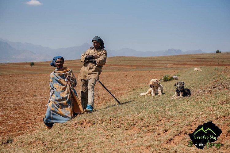 Die Menschen sind freundlich in Lesotho
