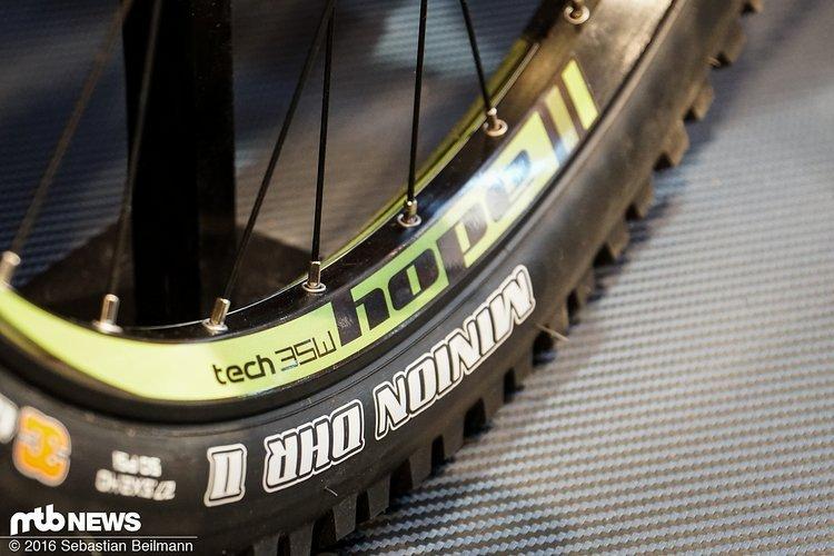 Bei den neuen tech 35W Laufrädern setzt Hope auf Felgen mit 35 mm Innenweite
