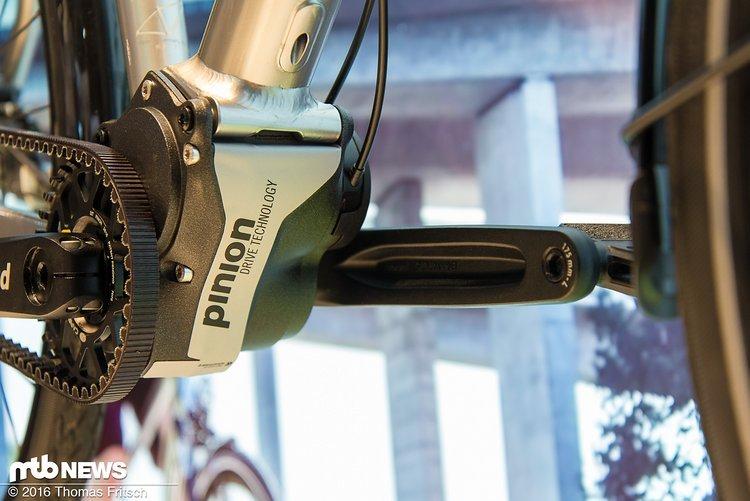 Pinion-Getriebe kombiniert mit dem Gates CarbonDrive soll selbst widrigsten Bedingungen standhalten.