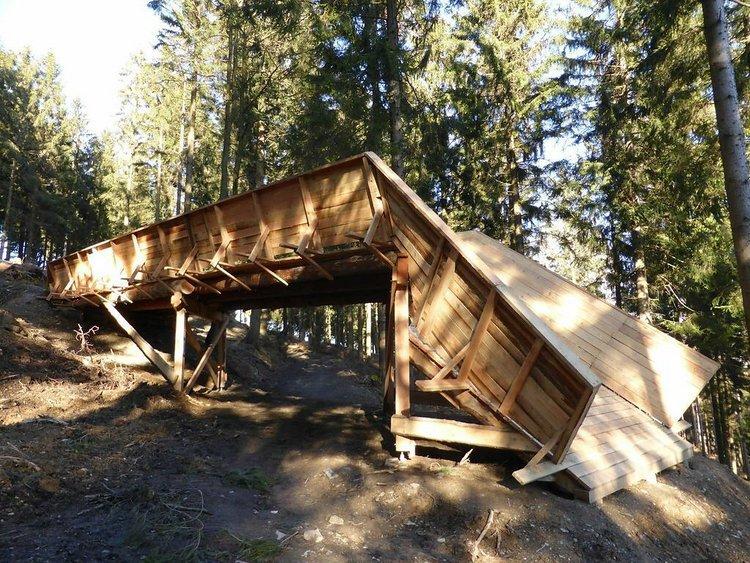 Die Brücke im Bikepark Hürtgenwald