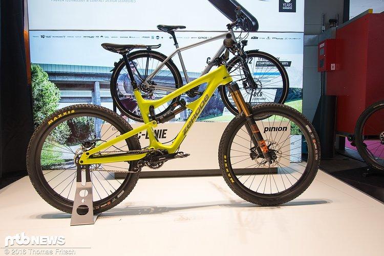 Zerode bietet neuerdings ein Rad mit Piniongetriebe an.