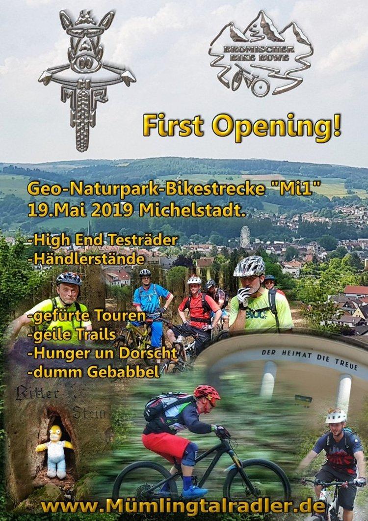 Eröffnung  der GEO Naturpark Bikestrecke Michelstadt / Odw. ( Mi1 ) .