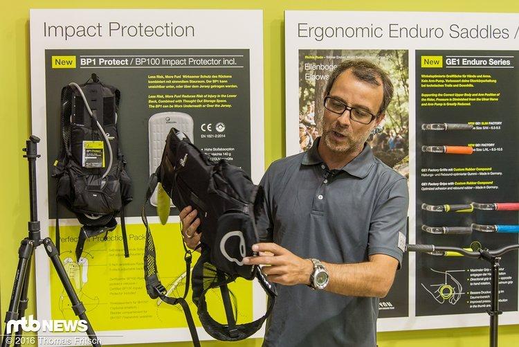 Neuer Rucksack von Ergon speziell für Bikepark Piloten