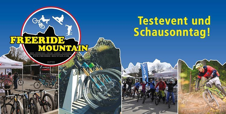 Fahrrad u E-Bike Neuheiten Testtage bei Freeride Mountain 22.-24.3.2019